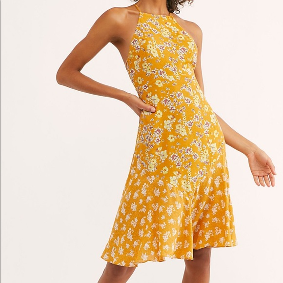 Free People Dresses & Skirts - Show Stopper Printed Slip Dress